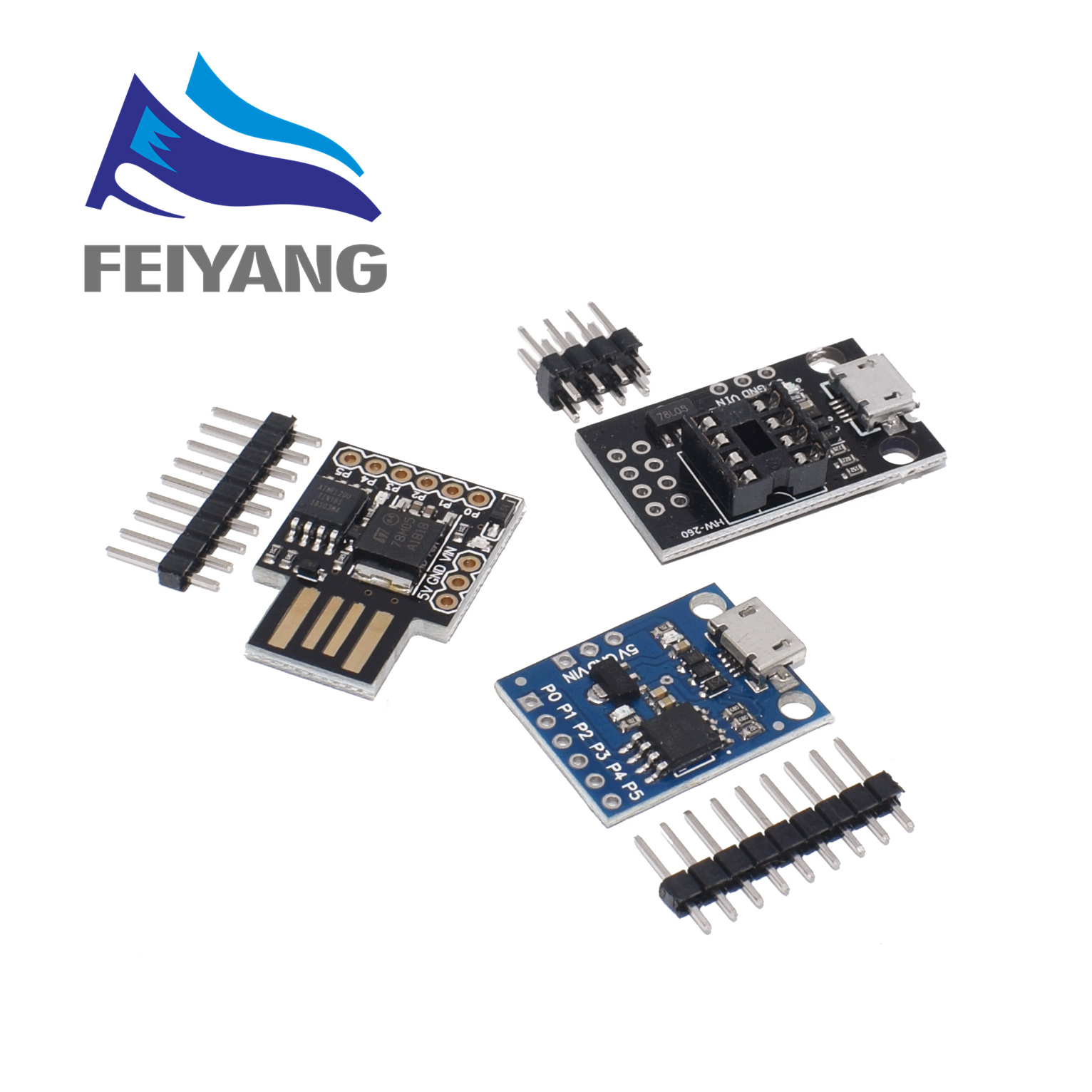 1PCS Blue Black TINY85 Digispark Kickstarter Micro Development Board ATTINY85 module for Arduino IIC I2C USB(China)