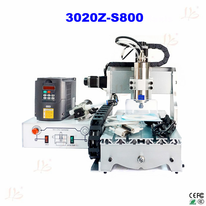 3020Z-S800 cnc router with 800W spindle, mini cnc milling machine for metal wood cnc 5axis a aixs rotary axis t chuck type for cnc router cnc milling machine best quality