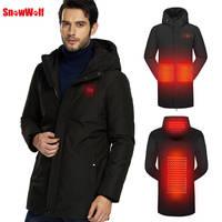 2018 зимняя USB нагревательная куртка пальто умная с подогревом походная куртка теплый пуховик Верхняя одежда для кемпинга Туризм