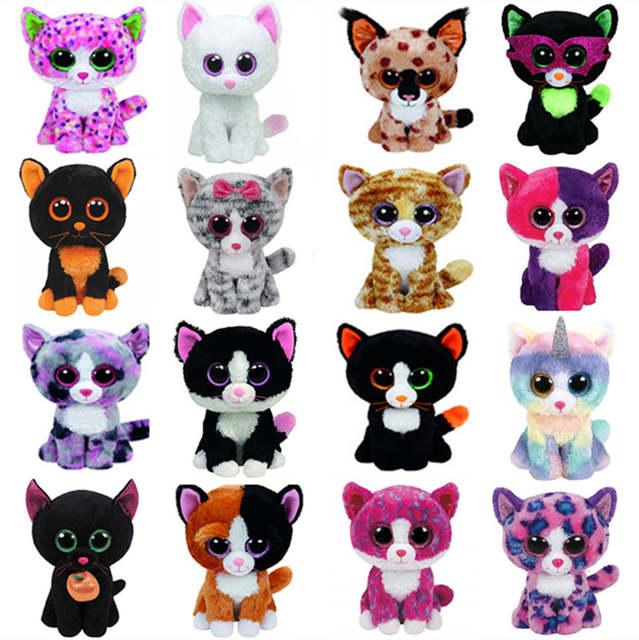Ty Beanie Boos Cat Plush Toy Muffin Sophie Pepper Lindi Kiki Frights  Tabitha Jinxy Reagan Buckwheat 96f21b00469c