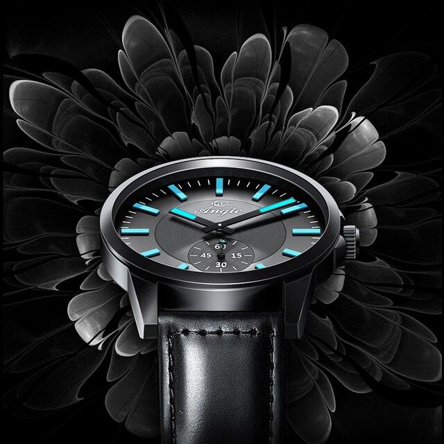 Angie Mens Relojes de Primeras Marcas de Lujo Reloj de Las Mujeres Amantes de Cuarzo-Reloj Dial Grande de Moda de Acero Inoxidable de Cuero Reloj de pulsera Reloj Hombre