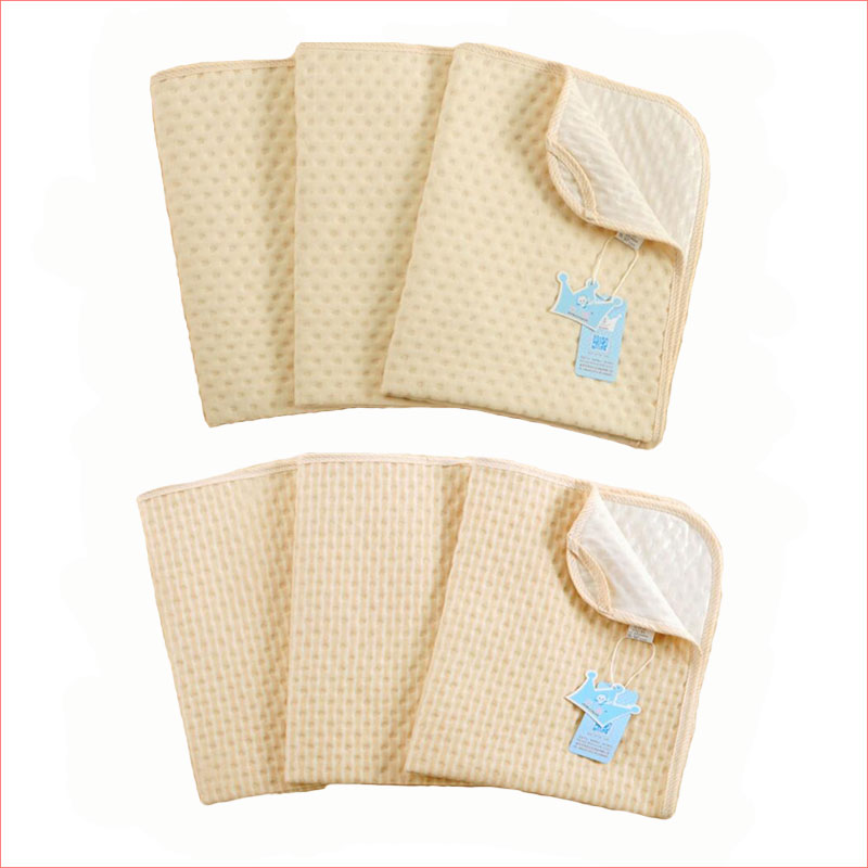Baby Mattress Natural Color Cotton Incontinence Pads Waterproof Protector Cot Covers Reusable S M L