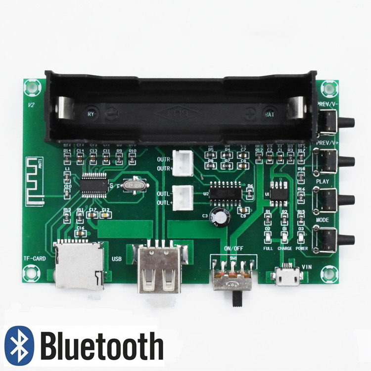 5W + 5W PAM8403 Bluetooth Digital Lithium Battery Power HIFI Amplifier finished Board for USB SD Card Singing Machine DIY 10pcs pam8403 pam8403dr sop16