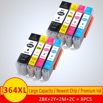 XiangYu kompatybilny wkład z atramentem dla hp 364 364 XL dla hp 3070A 3520 3522 4620 4622 5511 5512 5514 5515 5520 5522 5524 6515 tanie i dobre opinie NoEnName_Null Pełna Wkład atramentowy For HP 364xl ink cartridge HP Inkjet For HP364XL BK PBK C M Y For HP inkjet