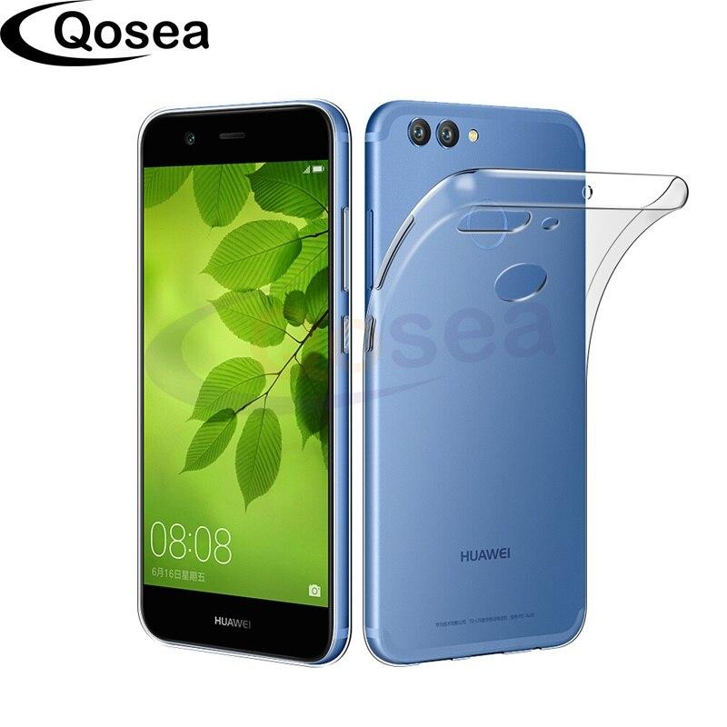 Qosea For Coque Huawei Nova 2 Phone Case Ultra-thin Silicone TPU For Huawei Nova 2 5.0 inch Transparent Phone Protective Cover