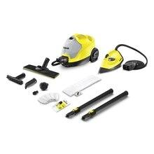Пароочиститель Karcher SC 4 EasyFix Iron Kit *EU U (Мощность нагревателя 2000 Вт, максимальное давление пара 3,5 бар, длина кабеля 4 м, время нагрева 4 мин, съемный бак 0,5 / 0,8 л)