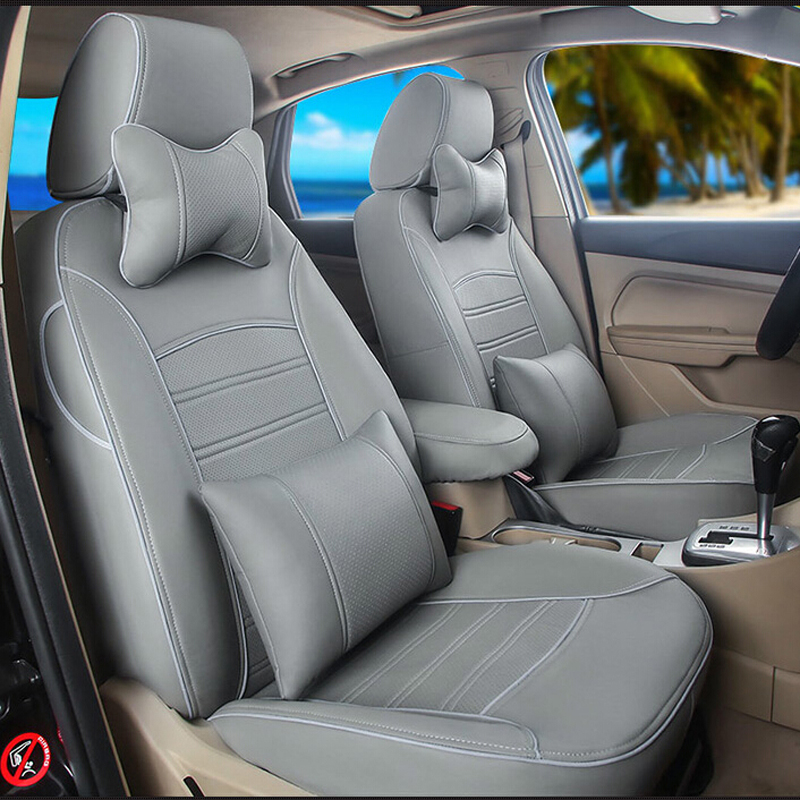 PU leather font b car b font cover seats for toyota land cruiser prado accessories 2015