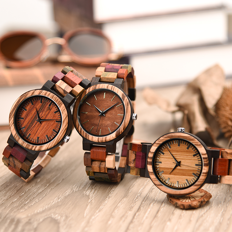 relogio masculino DODO DEER Men Watch Wooden Colorful Band Timepieces Japan Movement Quartz Wristwatch in Gift box Mens Gift A07(China)