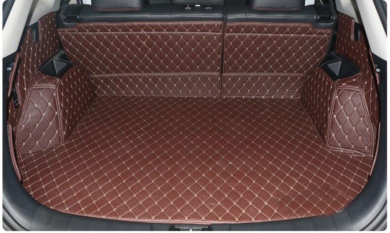 En cuir de fibre de tapis de coffre de voiture pour changan cs75 2014 2015 2016 2017 2018 2019 accessoires de voiture - 3