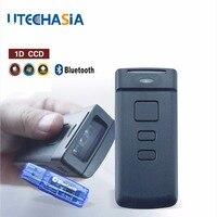 Портативный сканер штрих кода pt20 мини Беспроводной Bluetooth CCD 1D 150 просматривает/секунда для мобильных/Планшеты/pc черный