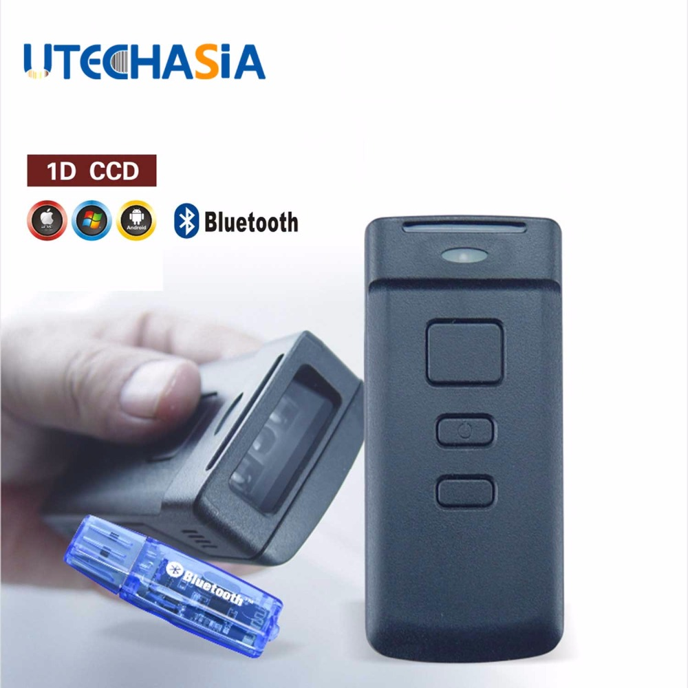 Portable Bar code Scanner PT20 Mini Wireless Bluetooth CCD 1D 150 Scans Second For Mobile Tablet