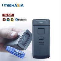 Portable Bar code Scanner PT20 Mini Wireless Bluetooth CCD 1D 150 Scans/Second For Mobile/Tablet/PC Black