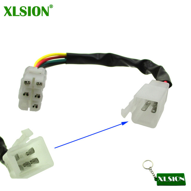 XLSION CDI Kabel Draad Adapter Connector Plug Fit Scooter Bromfiets Pit Crossmotor ATV Quad