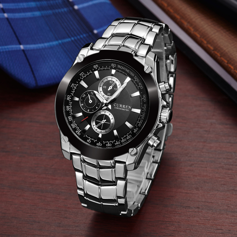 CURREN Часы Мужчины Luxury Brand Полная Сталь Бизнес Наручные Часы Повседневная Часы Кварцевые Часы relógio masculino 8025