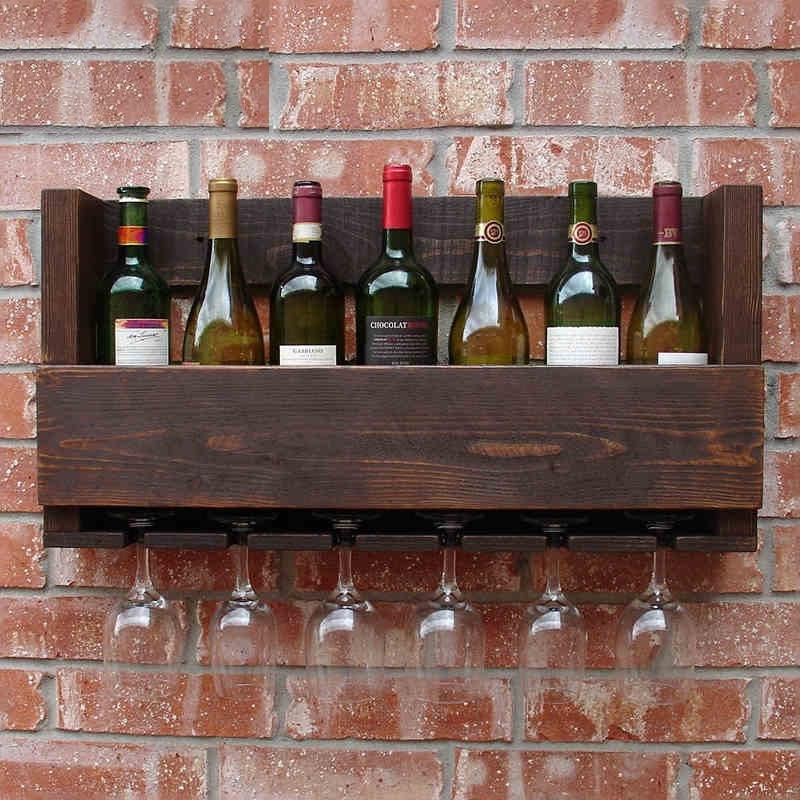 wine rack wood bar wall wine creative retro wood wine