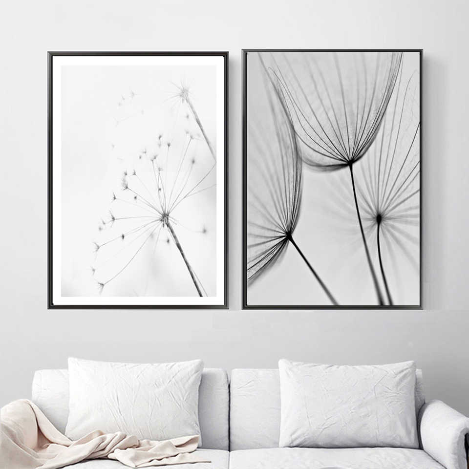 Printed Pictures Home Wall Art Modular Poster Girl Dandelion Bridge Quote Landscape Nordic Painting Canvas Living Room Decor