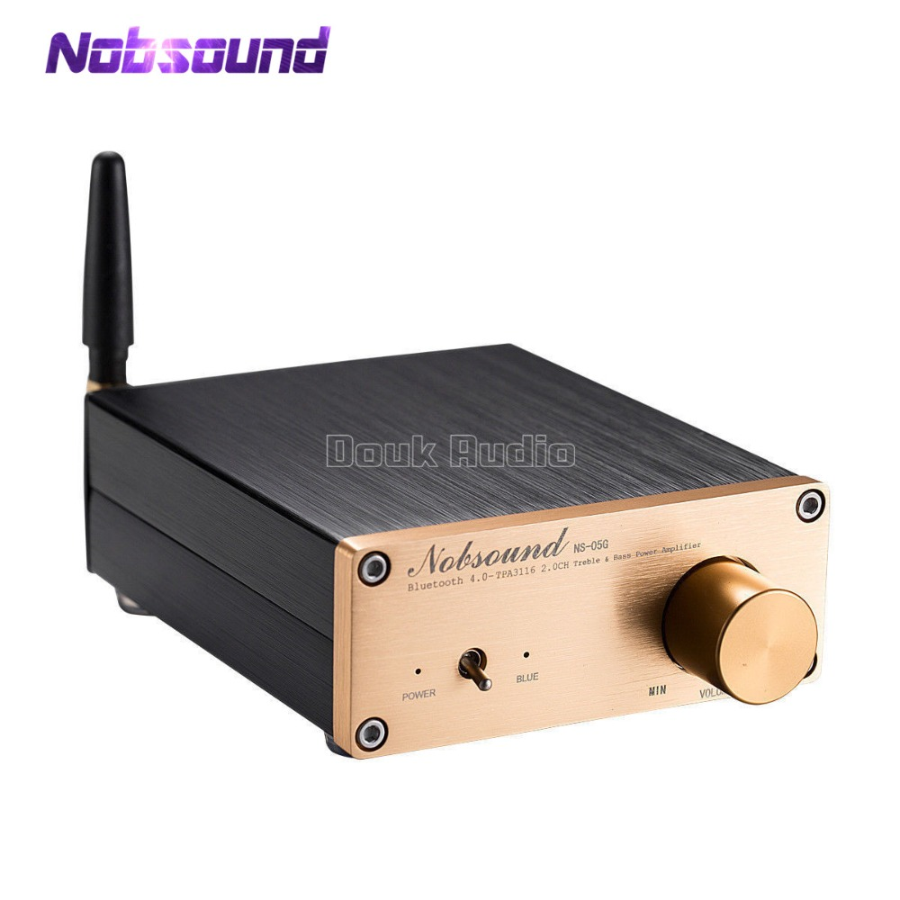 Nobsound Latest Mini TPA3116 100W Digital Stereo Amplifier HiFi Power Amp With Bluetooth 4.0 2018 hot selling hifi 100w amplifiers pass ce certification with 12v 5a power supply tpa3116 bluetooth 4 0 power amplifier