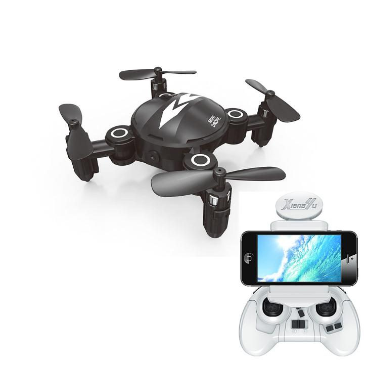 Mini RC Quadcopter Foldable Pocket Drone with WIFI FPV 0.3MP HD Camera Headless Mode Altitude Hold RC Helicopter VS S9HW mini rc quadcopter foldable pocket drone with wifi fpv 0 3mp hd camera headless mode altitude hold rc helicopter vs s9hw