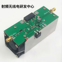 New 433MHZ 350 480MHZ 13W UHF RF Radio Power Amplifier AMP DMR with heatsink