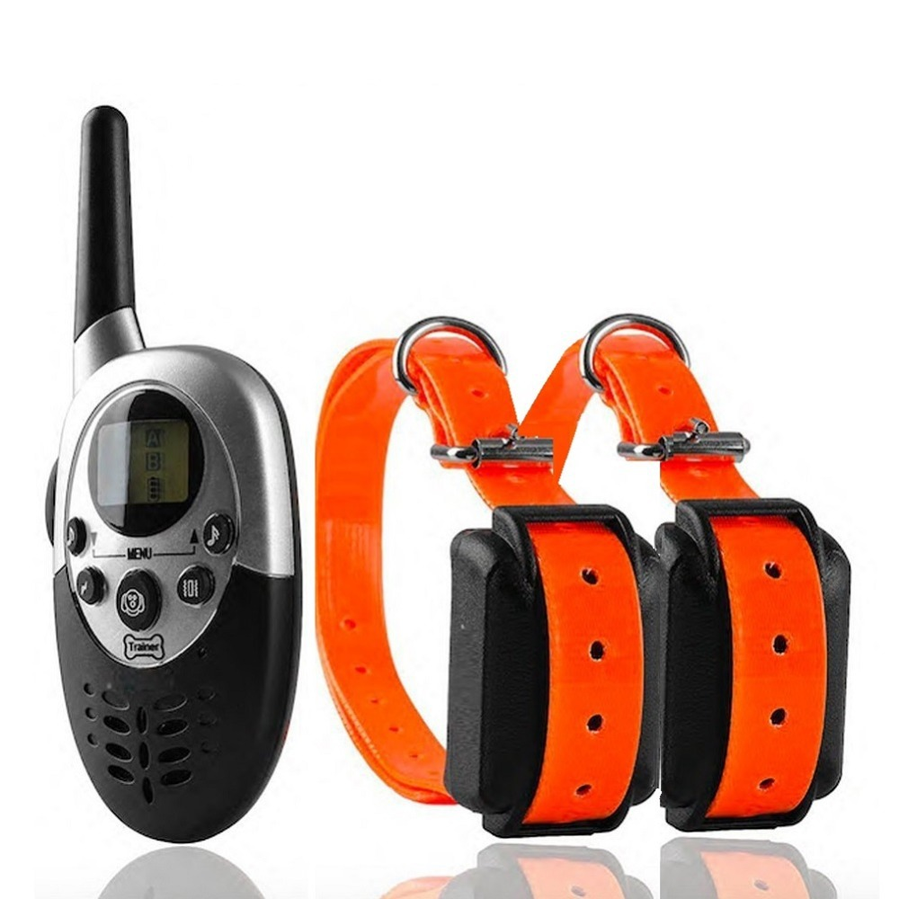 Pet Trainer 2 Dogs 1000 Yards Remote Dog Training Collars with Static Shock Stimulation Vibration Sound