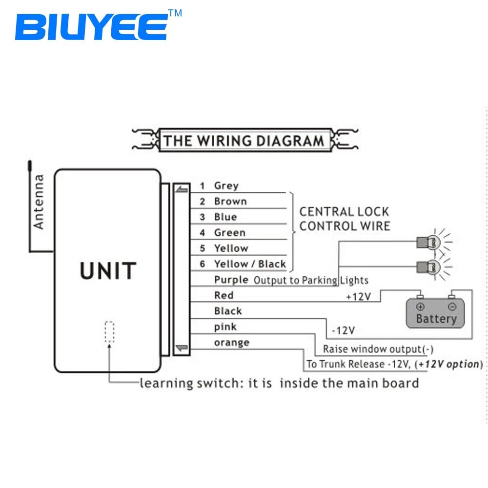 biuyee m602 8113 car keyless entry system remote keyless auto car lock control module keyless system [ 1000 x 1000 Pixel ]