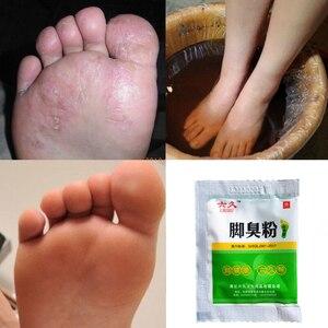 Image 5 - 10 שקיות זיהומים פטרייתיים אבקת רגל אמבטיה רגליים טיפול בכף רגל רגל ריח זיעה גירוד קילוף Beriberi גזזת Pedis