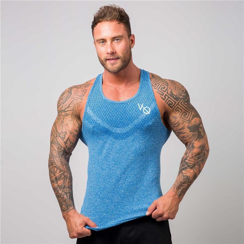 2019 Summer fashion gold gym brand bodybuilding tank top tank top muscle men's sleeveless vest