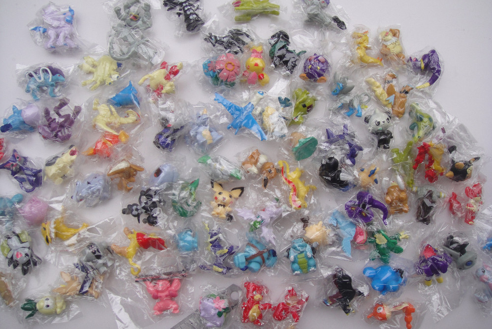 00pcs/lot HOT Brand New Cute Pokeman Monster Mini figures toys 3-5cm