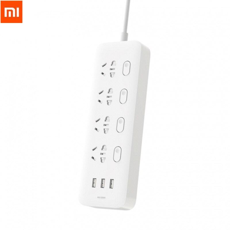Xiaomi Mijia Multiprise 4 Prises 4 Interrupteurs Individuels 3 USB 5 V 2.1A Rapide De Charge Extension Sockets Chargeur Pour Smart téléphone