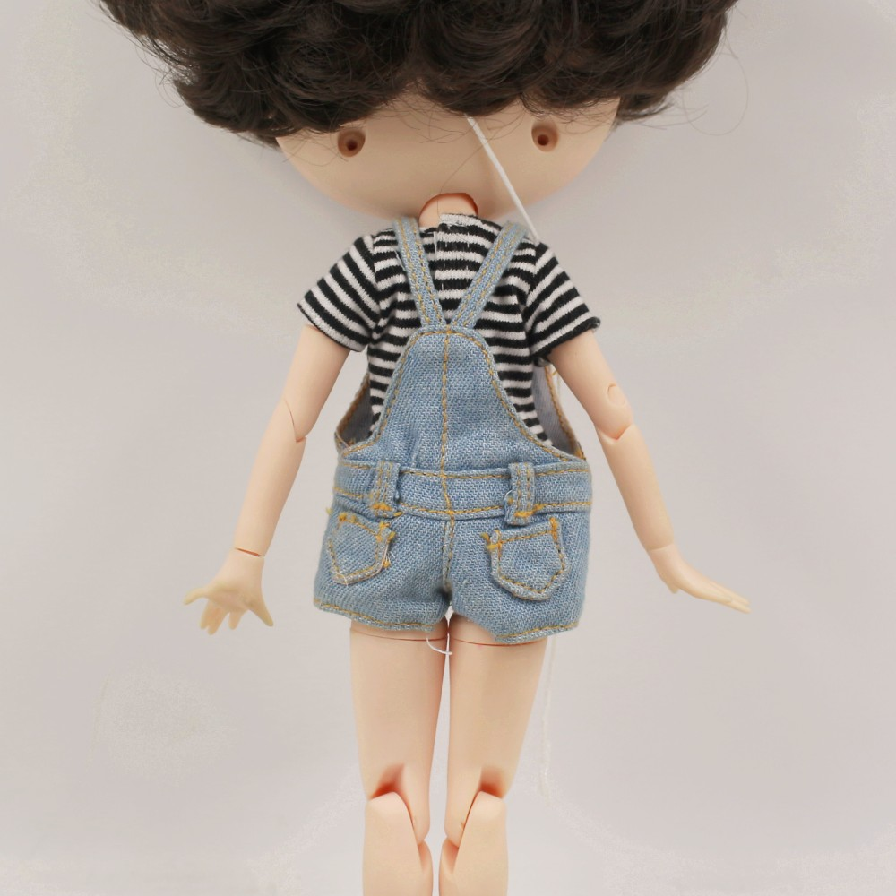 Neo Blythe Doll T-Shirt with Bib Suit 4