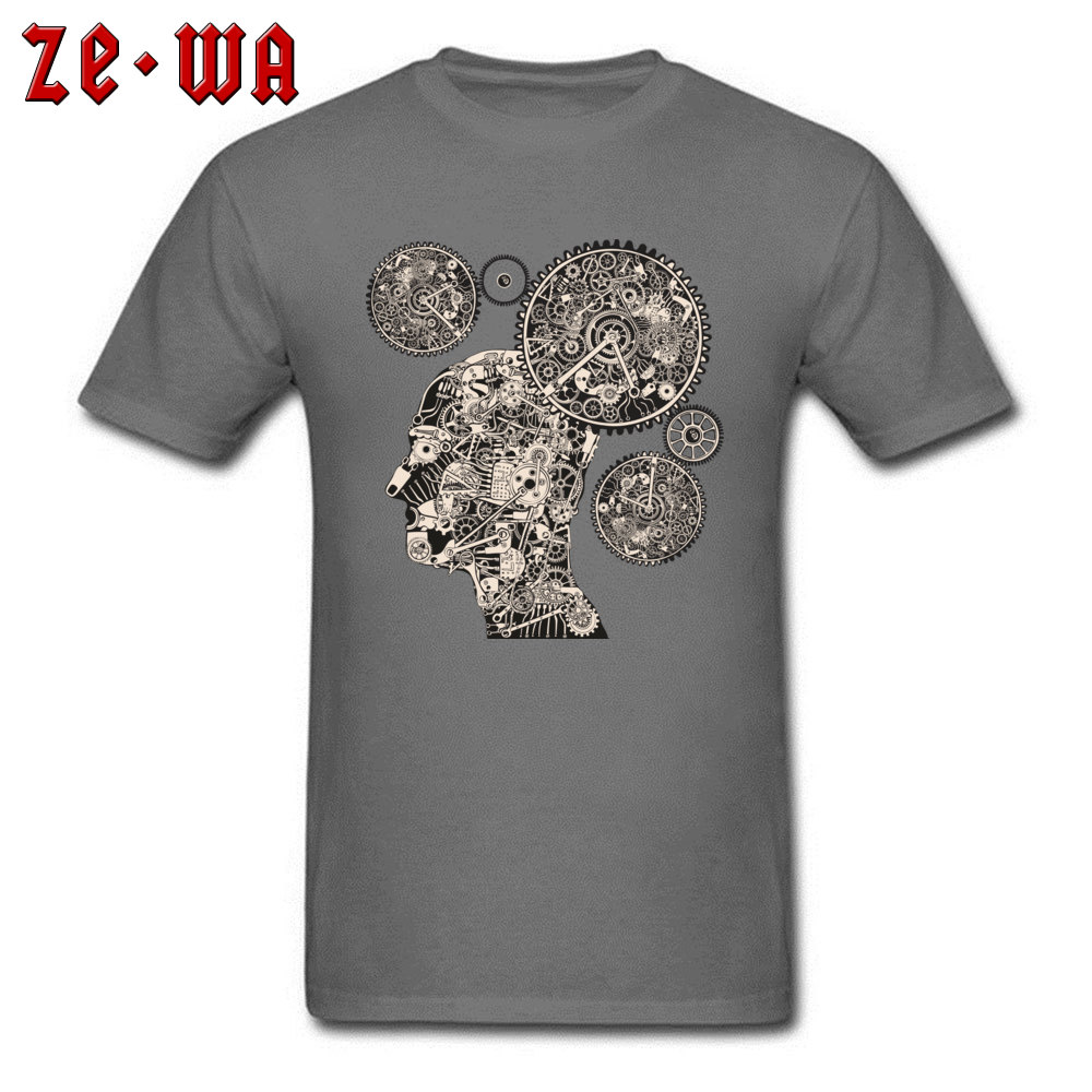 Tops T Shirt T Shirt Clock Machine Gear Mechanism Autumn Short Sleeve 100% Cotton Crew Neck Men Tshirts Slim Fit Graphic Clock Machine Gear Mechanism carbon