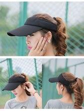 Women Men Sun Hat Cap Summer Outdoor Golf Tennis hat Sports Wide Brim Beach Visor cap