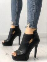 LAPOLAKA Fashion Peep Toe Cutout Thin Heels summer Boots fashion brand design sexy high heels women's Shoes Woman ankle boots