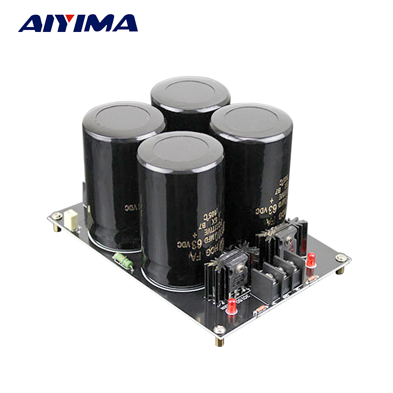 Aiyima 120A Amplifier Rectifier Filter Supply Power Board High Power Schottky Rectifier Filter Power Supply Board 22000uf 150V new 2017 men winter black jacket parka warm coat with hood mens cotton padded jackets coats jaqueta masculina plus size nswt015