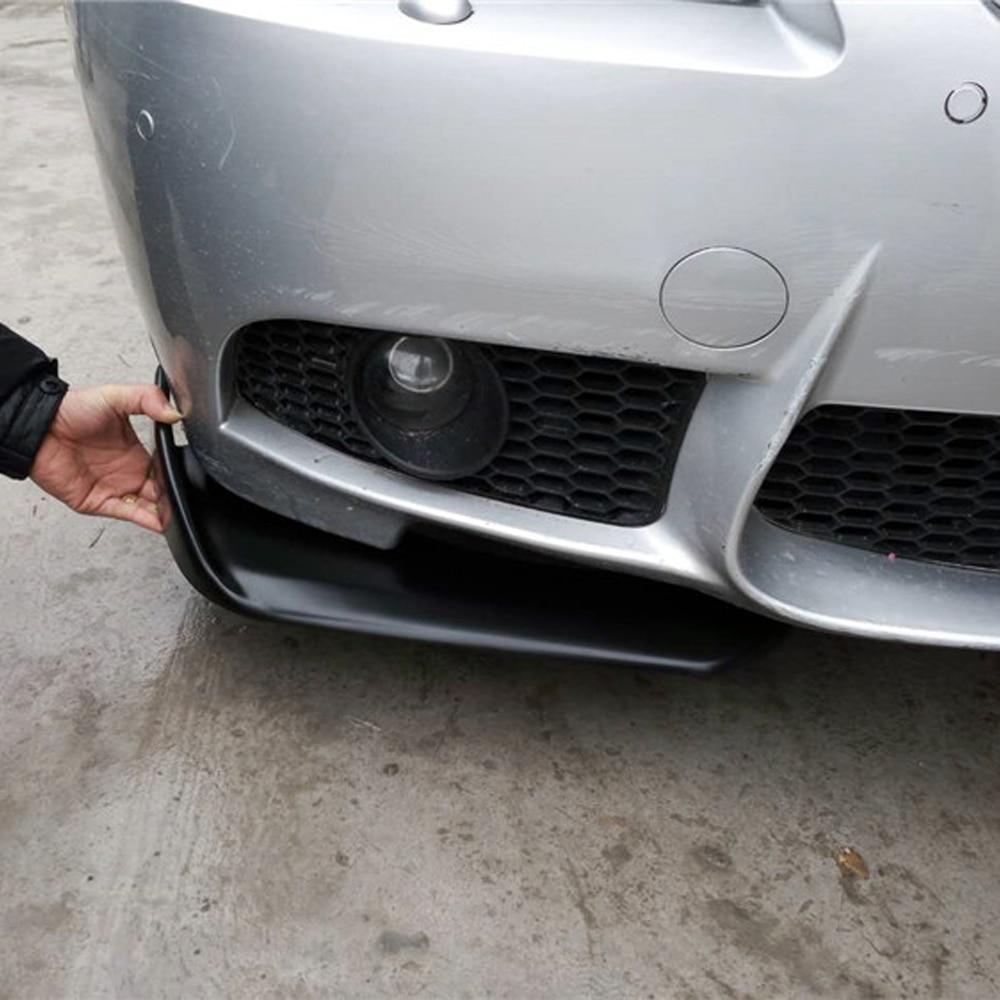 Universal Matt Black FRP Car Styling Front Bumper Lip Splitter Apron for BMW E90 E92 E93 M3 M4 F10 F20 F30 F32 universal matt black frp car styling front bumper lip splitter apron for bmw audi volkswagen toyota nissan mitsubishi