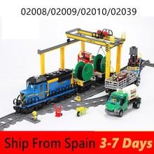 Building Blocks City Cargo Train Sets Technic Motor Passenge