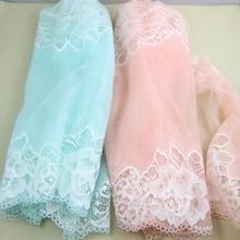 1 ярд 24 см ширина свадебное платье вода зеленый и вода розовый не-эластичный не-стрейч кружева отделка шитье/одежда аксессуары
