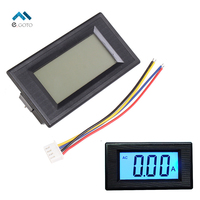 AC 50A Ammeter LCD Digital Display Blue Backlight Current Meter 8 18V 200mA Isolation Common Power
