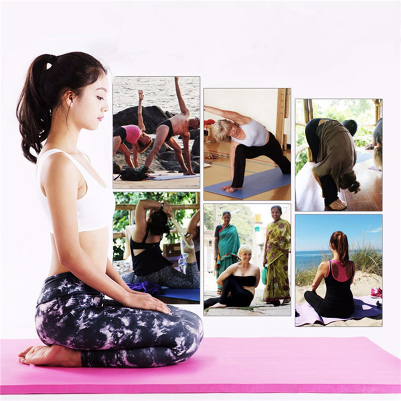 183 61 1cm waterproof non slip portable yoga mat sports gym soft folding fitness fitness equipment with straps and backpack in Yoga Mats from Sports Entertainment