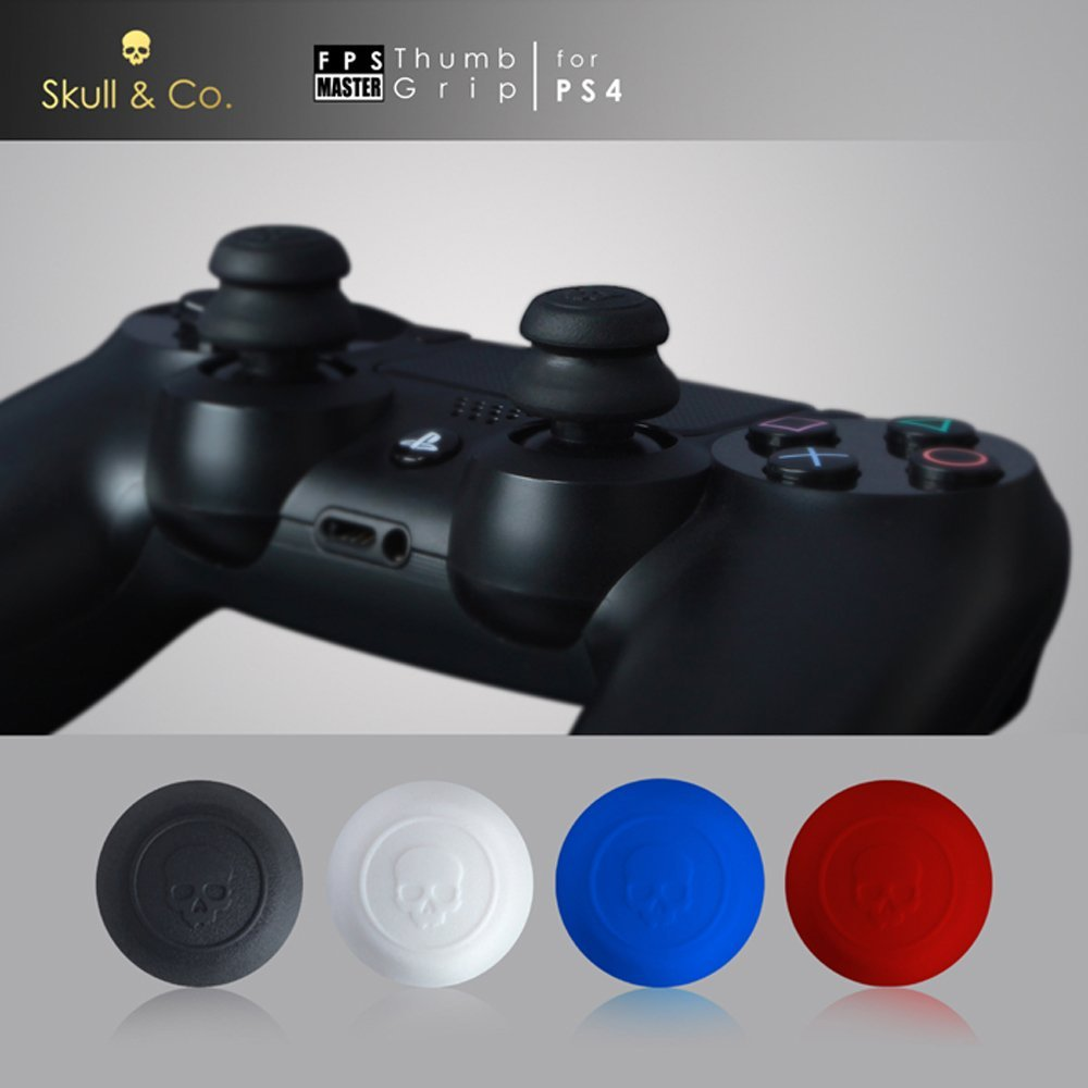 Skull & Co. Thumb Grip Joystick Cap FPS Master Thumbstick Cover for PS4 Controller Gamepad