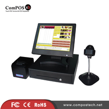 Highly reputation in European counties I3 processor A whole set of 15 inch pos system terminal touch screen