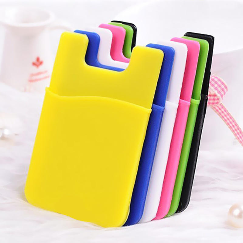 best loved 37585 aa78e US $1.53 18% OFF|2pcs Universal Silicone 3M Adhesive Sticker Pouch Credit  Card Case Holder Pocket Sleeve for iPhone 6s 6 5s 5 Samsung Galaxy S4-in ...