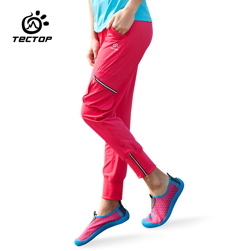 Tectop outdoor sports womens quick-drying Breathable trousers ultra-light elastic Slim camping hiking climbing pants