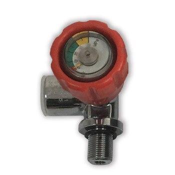 AC911 cabezal de válvula roja de buceo M18 * 1,5 para tanque de Paintball de Rifle Pcp/cilindro de Gas 4500Psi Válvula de cilindro de Gas Rifle de aire Acecare