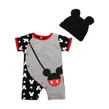 Hot Sale Cartoon Baby Romper Body Suits Cotton Short Sleeve Character Cartoon One Piece Baby Romper