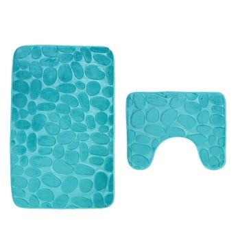 Anti-Slip & Water-Absorbent Bathroom Mat Set