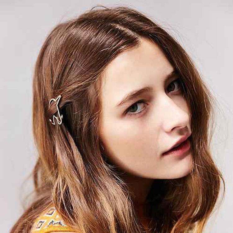 nueva moda mujeres nias oroplata metal plateado unicornio holder accesorios para el cabello pinzas para el cabello horquillas