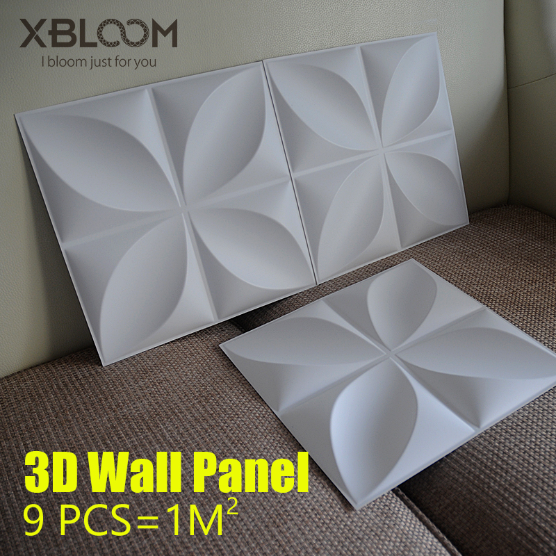 9 PCS 30x30cm 3D Wall Panel Wavy Rose Wood Carving Flower 3D Wall Curve Embossed 3D Pearlescent Colorful Wedding Decor Wallpaper