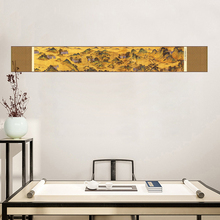 Tangfoo Mountain Silk Scroll Paintings Vintage Traditional Chinese Painting Business Gifts Office Home Decoration Pictures