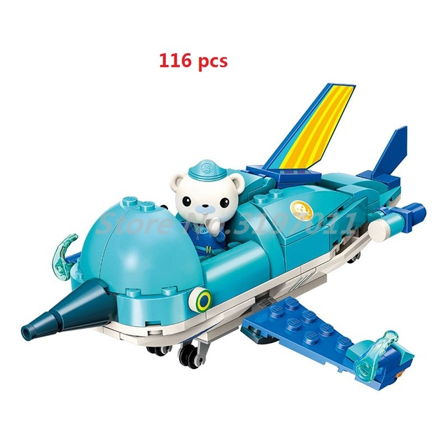 Free Shipping Octonauts Block Building  GUP-R Sailfish Vehicle & Barnacles  Figures Toys Christmas child gift Educational Toys